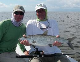 Dave Dekker with that nice tailing bonefish he caught. Bonefish Fishing Photo Gallery - Islamorada Fishing Charters