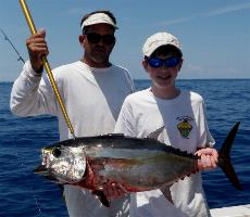 Blackfin Tuna fight hard and often we hook two or three at a time. Tuna Fishing Photo gallery - Islamorada Fishing Charters